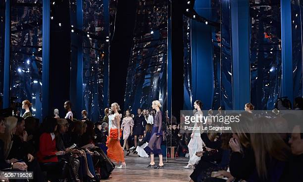 Models walk the runway during the Christian Dior Spring Summer 2016 show as part of Paris Fashion Week on January 25 2016 in Paris France