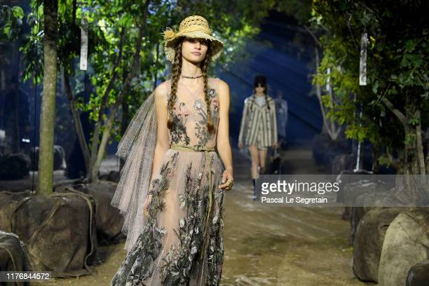 Models walk the runway during the Christian Dior Womenswear Spring/Summer 2020 show as part of Paris Fashion Week on September 24, 2019 in Paris,...