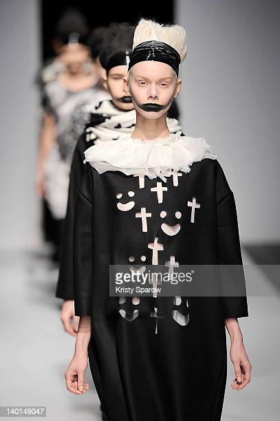 Models walk the runway during the Devastee ReadyToWear Fall/Winter 2012/13 show as part of Paris Fashion Week at pont Alexandre III Port des Champs...