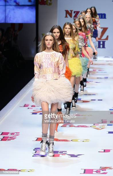 Models walk the runway during the D&G Fashion Show as part of Milan Fashion Week Womenswear Autumn/Winter 2011 on February 24, 2011 in Milan, Italy..