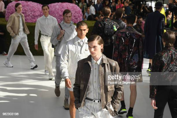 Models walk the runway during the Dior Homme Menswear Spring/Summer 2019 show as part of Paris Fashion Week on June 23 2018 in Paris France