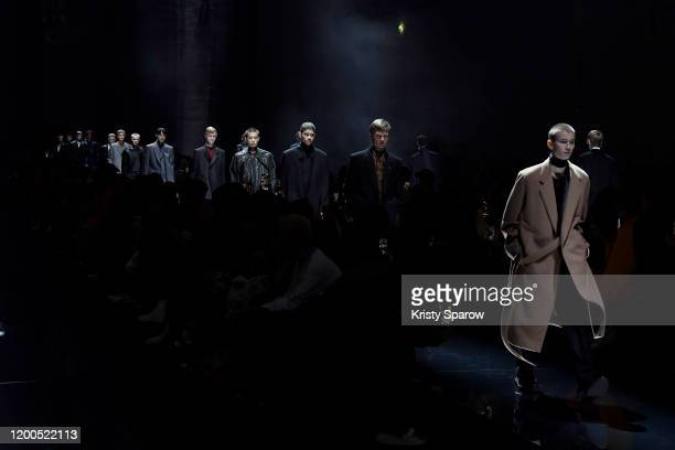 Models walk the runway during the Dunhill Menswear Fall/Winter 2020-2021 show as part of Paris Fashion Week on January 19, 2020 in Paris, France.