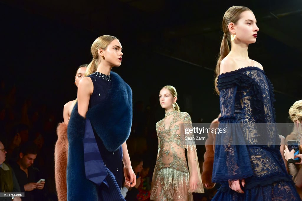 Models walk the runway during the finale at the Jonathan Simkhai show during New York Fashion Week at Skylight Clarkson Sq on February 11, 2017 in New York City.