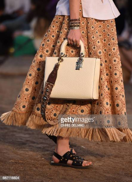 Models walk the runway during the first cruise collection by Maria Grazia Chiuri for Dior show in the Upper Las Virgenes Canyon, Calabasas,...