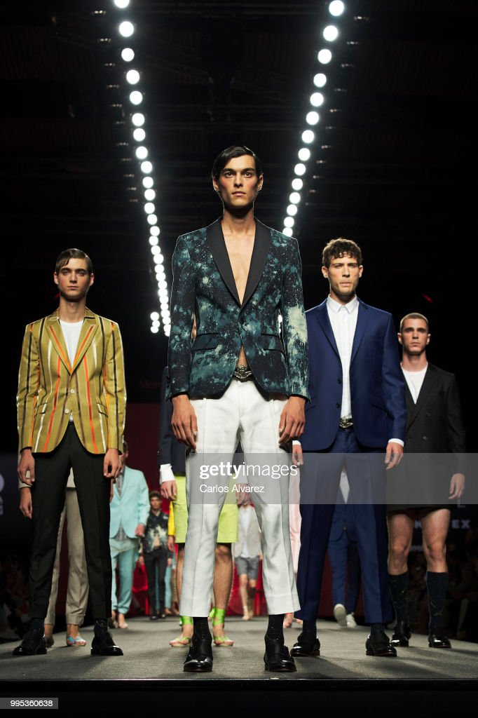 Models walk the runway during the Garcia Madrid show at Mercedes Benz Fashion Week Madrid Spring/Summer 2019 on July 10, 2018 in Madrid, Spain.