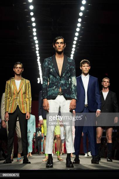 Models walk the runway during the Garcia Madrid show at Mercedes Benz Fashion Week Madrid Spring/Summer 2019 on July 10 2018 in Madrid Spain