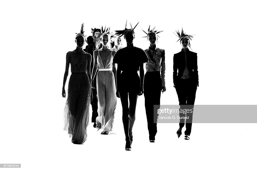 Models walk the runway during the Haider Ackermann show as part of the Paris Fashion Week Womenswear Spring/Summer 2017 on October 1, 2016 in Paris, France.