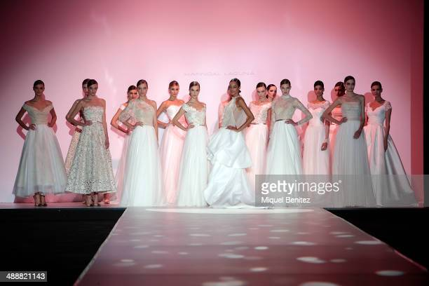 Models walk the runway during the Hannibal Laguna fashion show as part of 'Barcelona Bridal Week 2014' on May 8 2014 in Barcelona Spain