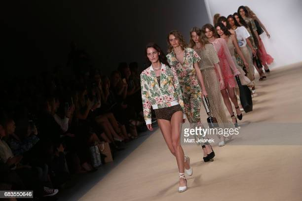 Models walk the runway during the HANSEN GRETEL show at MercedesBenz Fashion Week Resort 18 Collections at Carriageworks on May 16 2017 in Sydney...