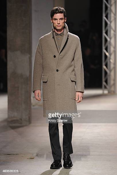 Models walk the runway during the Hermes Menswear Fall/Winter 20142015 show as part of Paris Fashion Week on January 18 2014 in Paris France
