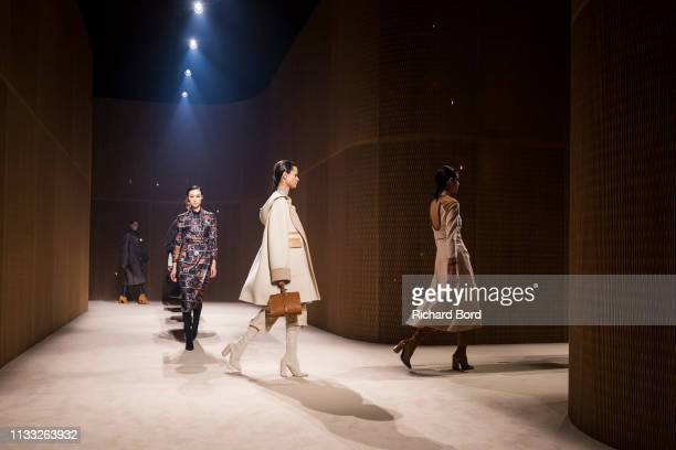 Models walk the runway during the Hermes show as part of the Paris Fashion Week Womenswear Fall/Winter 2019/2020 on March 02 2019 in Paris France