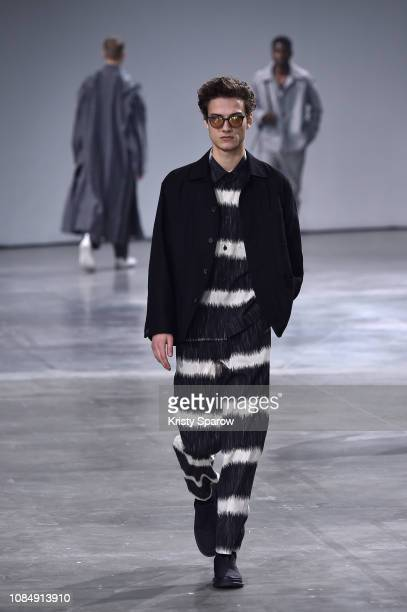 Models walk the runway during the Issey Miyake Men Menswear Fall/Winter 2019-2020 show as part of Paris Fashion Week on January 17, 2019 in Paris,...
