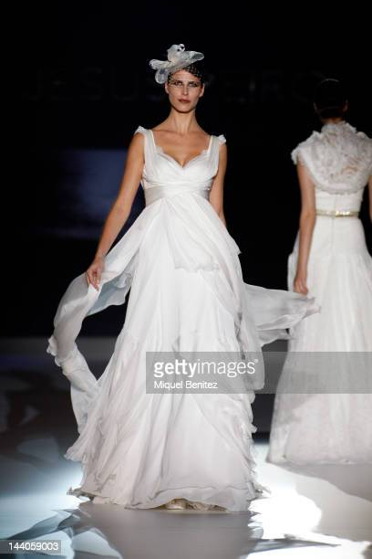 Models walk the runway during the 'Jesus Peiro' show during 'Barcelona Bridal Week 2012' on May 9 2012 in Barcelona Spain