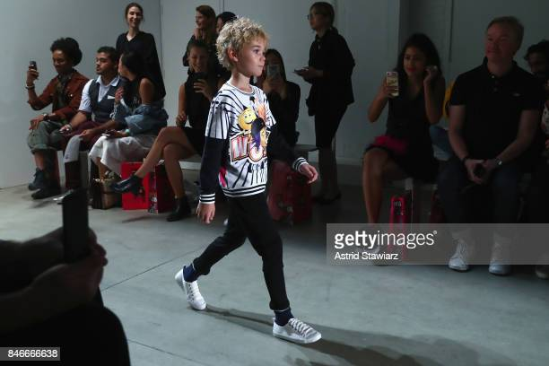 Models walk the runway during the Jia Liu fashion show during New York Fashion Week The Shows at Gallery 2 Skylight Clarkson Sq on September 13 2017...