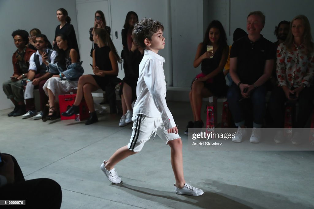 Models walk the runway during the Jia Liu fashion show during New York Fashion Week: The Shows at Gallery 2, Skylight Clarkson Sq on September 13, 2017 in New York City.