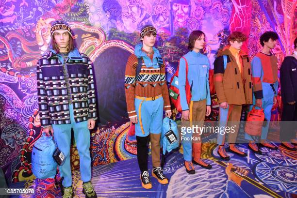 Models walk the runway during the Kenzo Menswear Fall/Winter 20192020 show as part of Paris Fashion Week on January 20 2019 in Paris France