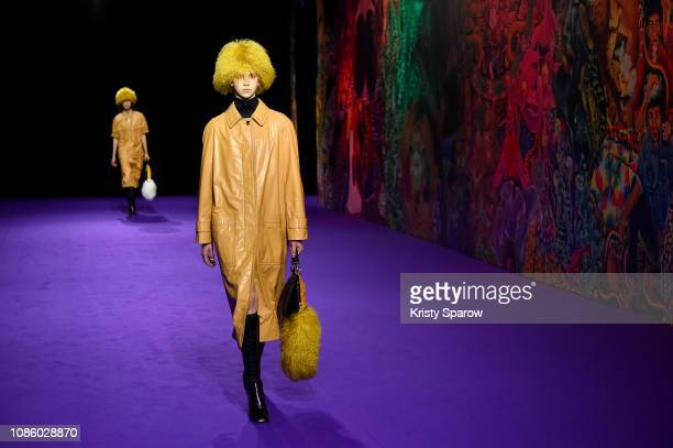 Models walk the runway during the Kenzo Menswear Fall/Winter 2019-2020 show as part of Paris Fashion Week on January 20, 2019 in Paris, France.