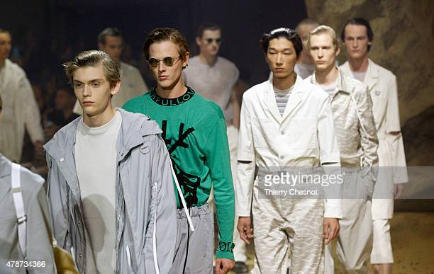Models walk the runway during the Kenzo Menswear Spring/Summer 2016 show as part of Paris Fashion Week on June 27 2015 in Paris France