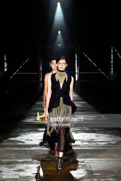 Models walk the runway during the KITX show at MercedesBenz Fashion Week Resort 18 Collections at Bay 25 Carriageworks on May 17 2017 in Sydney...