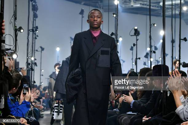 Models walk the runway during the Lanvin Menswear Fall/Winter 20182019 show as part of Paris Fashion Week on January 21 2018 in Paris France