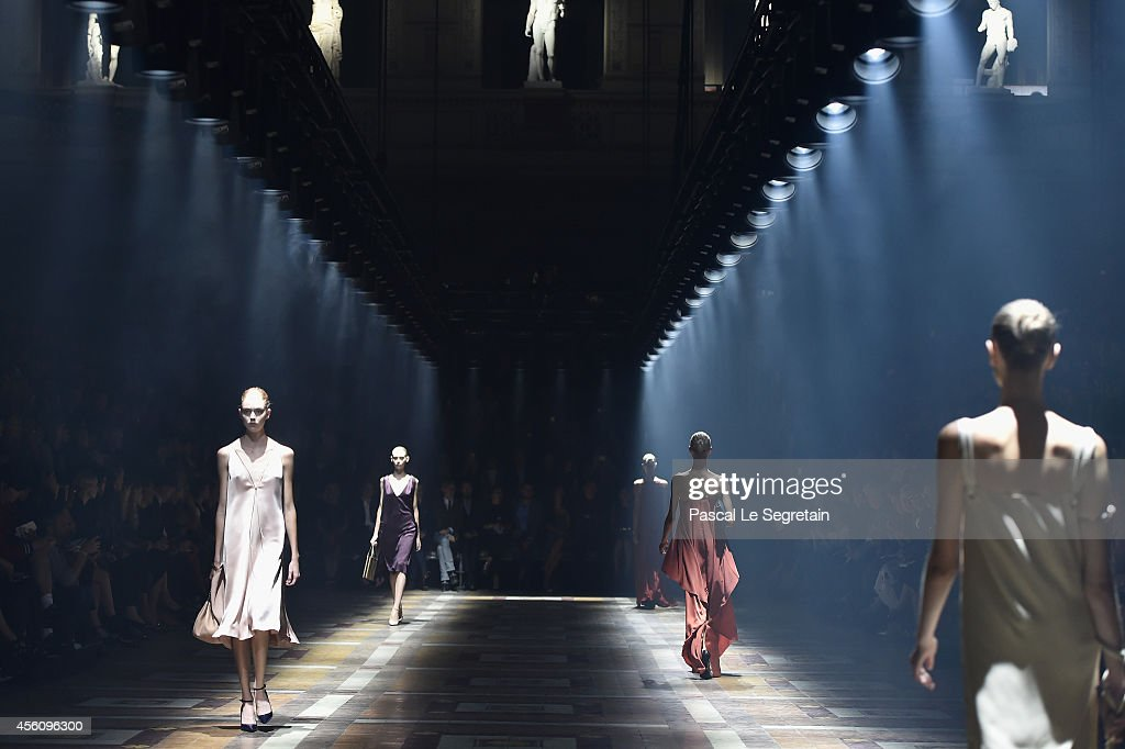 Models walk the runway during the Lanvin show as part of the Paris Fashion Week Womenswear Spring/Summer 2015 on September 25, 2014 in Paris, France.