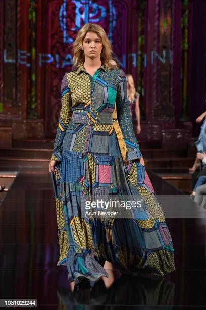 Models walk the runway during the LE PIACENTINI show at New York Fashion Week Powered By Art Hearts Fashion at The Angel Orensanz Foundation on...