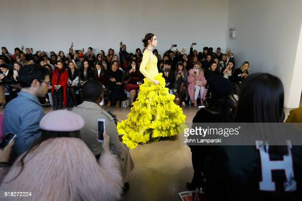 Models walk the runway during the Leanne Marshall show during February 2018 New York Fashion Week The Shows at Gallery II at Spring Studios on...