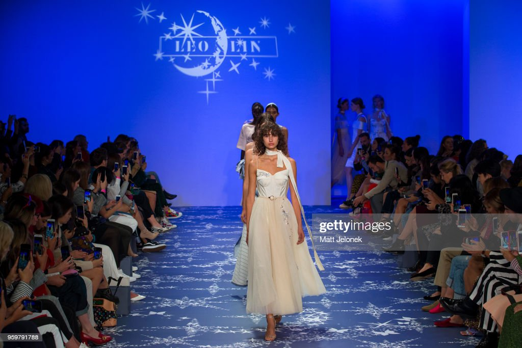 Models walk the runway during the Leo & Lin show at Mercedes-Benz Fashion Week Resort 19 Collections at Carriageworks on May 17, 2018 in Sydney, Australia.