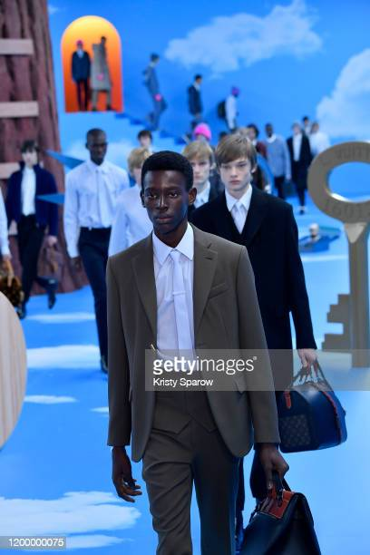 Models walk the runway during the Louis Vuitton Menswear Fall/Winter 20202021 show as part of Paris Fashion Week on January 16 2020 in Paris France
