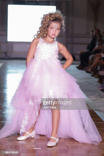 Models walk the runway during the Love Baby J show at the Cosmopolitan NYFW SS20 on September 6 2019 in New York City
