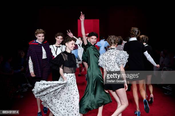 Models walk the runway during the MacGraw show at MercedesBenz Fashion Week Resort 18 Collections at Carriageworks on May 16 2017 in Sydney Australia