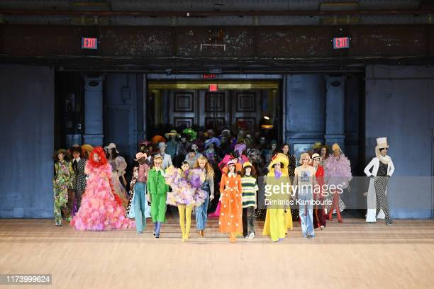 Models walk the runway during the Marc Jacobs Spring 2020 Runway Show at Park Avenue Armory on September 11 2019 in New York City