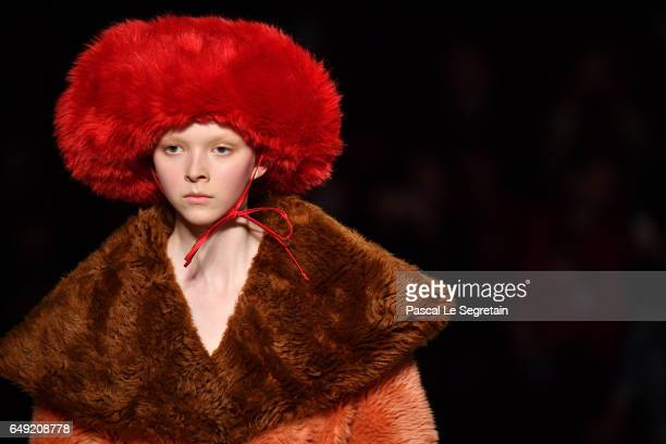 Models walk the runway during the Miu Miu show as part of the Paris Fashion Week Womenswear Fall/Winter 2017/2018 on March 7 2017 in Paris France