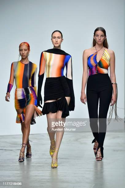 Models walk the runway during the Mugler Womenswear Spring/Summer 2020 show as part of Paris Fashion Week on September 25, 2019 in Paris, France.