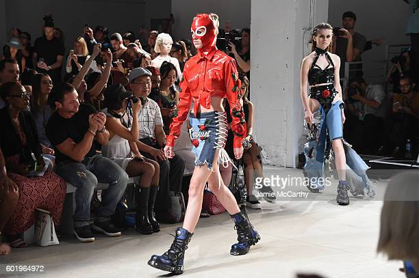 Models walk the runway during the Namilia fashion show during New York Fashion Week September 2016 at The Gallery Skylight at Clarkson Sq on...