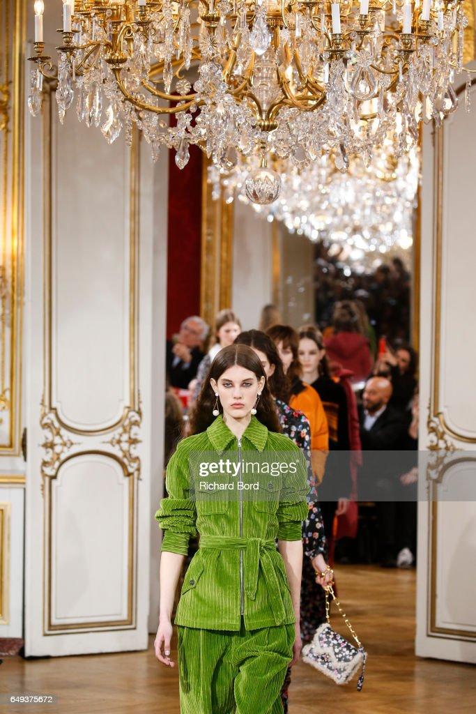 Models walk the runway during the Paul & Joe Paris show during Paris Fashion Week Womenswear Fall/Winter 2017/2018 on March 7, 2017 in Paris, France.