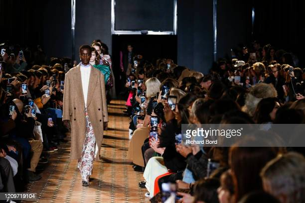Models walk the runway during the Paul & Joe show as part of the Paris Fashion Week Womenswear Fall/Winter 2020/2021 at Lycee Henry IV on March 01,...