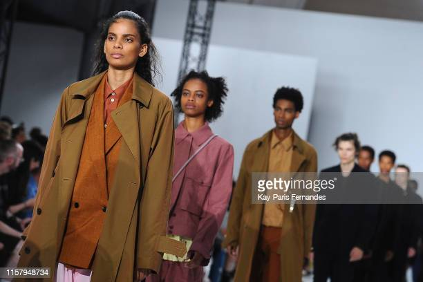 Models walk the runway during the Paul Smith Menswear Spring Summer 2020 show as part of Paris Fashion Week on June 23, 2019 in Paris, France.