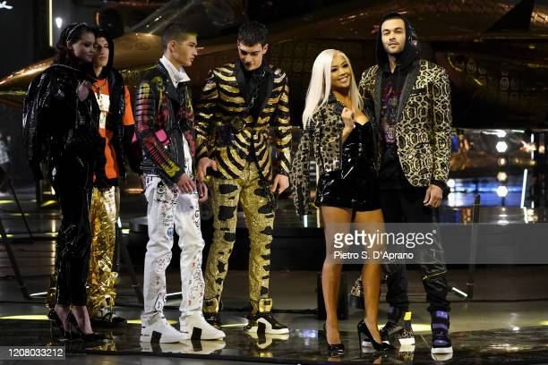 Models walk the runway during the Philipp Plein fashion show as part of Milan Fashion Week Fall/Winter 2020-2021 on February 22, 2020 in Milan, Italy.