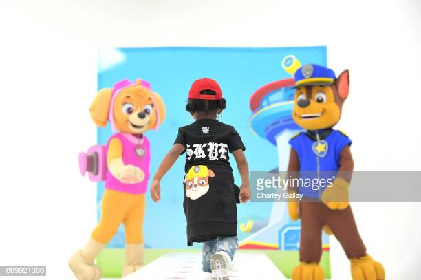 Models walk the runway during the prerelease party and fashion show for Nickelodeon's PAW Patrol collaboration with Haus of JR on October 22, 2017 in...