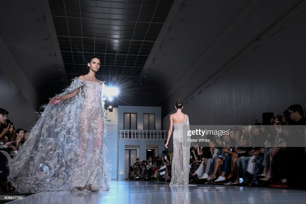 Models walk the runway during the Ralph & Russo Haute Couture Fall/Winter 2017-2018 show as part of Haute Couture Paris Fashion Week on July 3, 2017 in Paris, France.