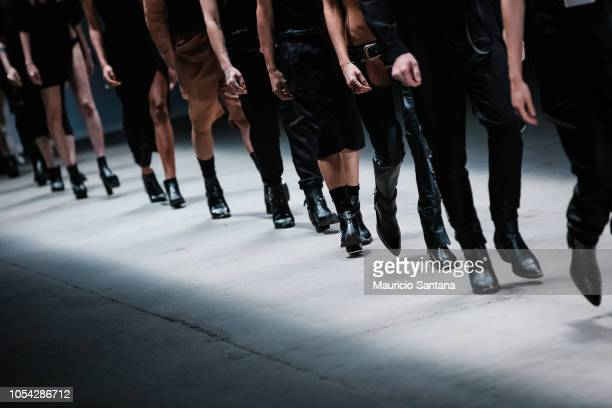 Models walk the runway during the Ratier fashion show at Sao Paulo Fashion Week N46 SPFW Winter 2019 at ARCA on October 26 2018 in Sao Paulo Sao Paulo