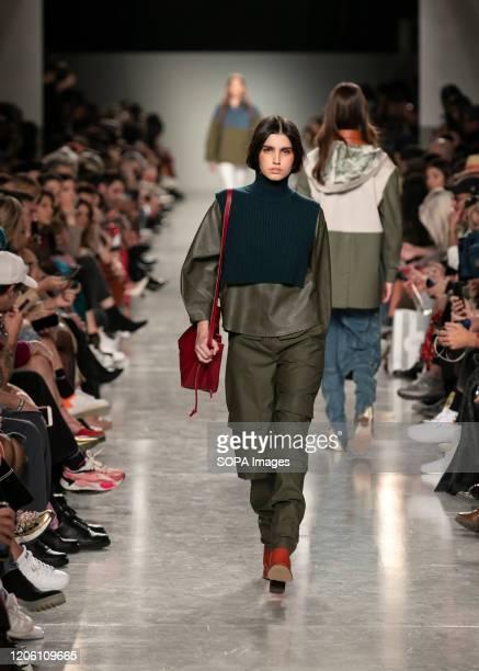 Models walk the runway during the Ricardo Preto fashion show at the Modalisboa Awake - Lisbon Fashion Week.
