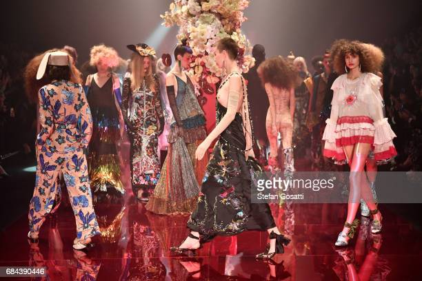 Models walk the runway during the Romance Was Born show at MercedesBenz Fashion Week Resort 18 Collections at Carriageworks on May 18 2017 in Sydney...