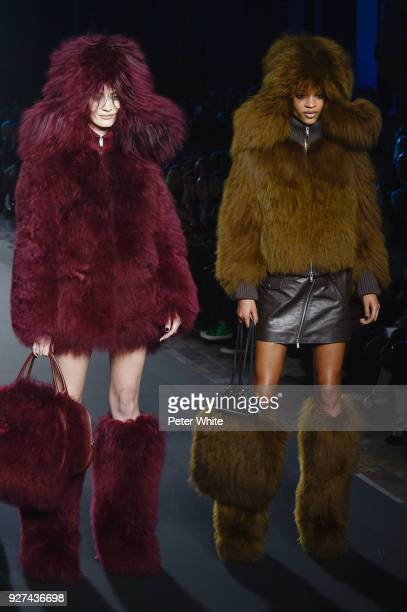Models walk the runway during the Sonia Rykiel show as part of the Paris Fashion Week Womenswear Fall/Winter 2018/2019 on March 3 2018 in Paris France