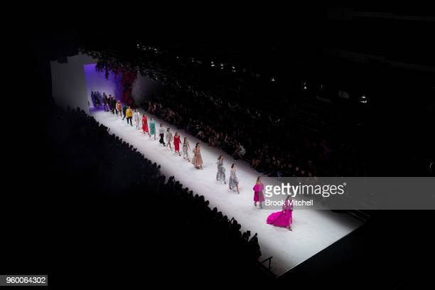 Models walk the runway during the Style Collective show at MercedesBenz Fashion Week Australia Weekend Edition at Carriageworks on May 19 2018 in...