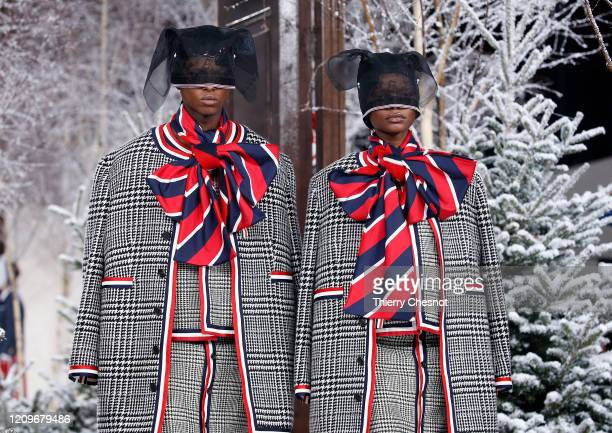 Models walk the runway during the Thom Browne as part of the Paris Fashion Week Womenswear Fall/Winter 2020/2021 on March 01, 2020 in Paris, France.