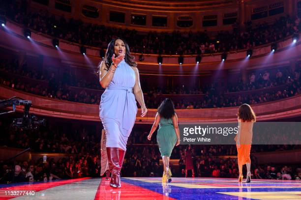 Models walk the runway during the Tommy Hilfiger TOMMYNOW Spring 2019 TommyXZendaya Premieres at Theatre des ChampsElysees on March 02 2019 in Paris...