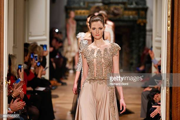 Models walk the runway during the Tony Ward show as part of Paris Fashion Week Haute Couture Spring/Summer 2014 on January 20, 2014 in Paris, France.