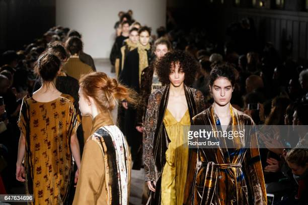d19bab89115 Models walk the runway during the Uma Wang show at Hotel des Invalides as  part of